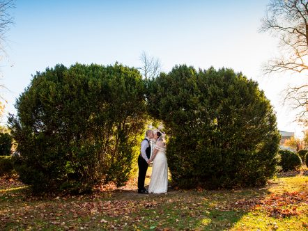 Small Wedding at Local Park Winchester Virginia Anthony and Laura