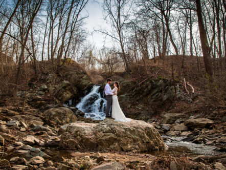 Elopement Marriage by a Waterfall in Purcellville, VA