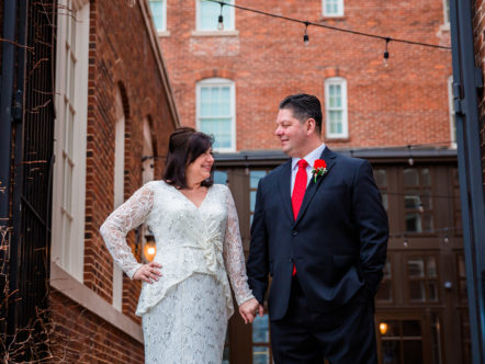 Small Wedding at George Washington Hotel in Winchester, VA