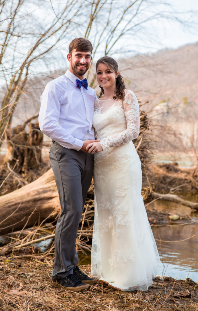 virginia waterfall wedding