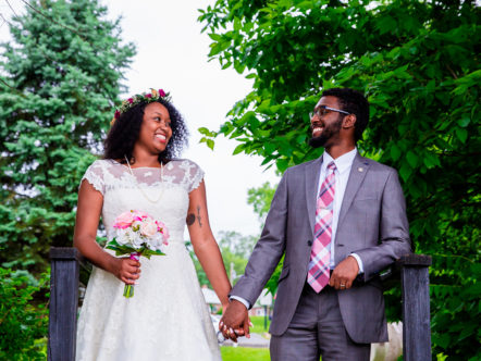 A Simple Marriage in a Virginia Park - Favian and Shanice