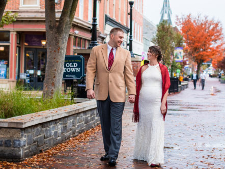 Eloping in Historic Old Town Winchester Virginia